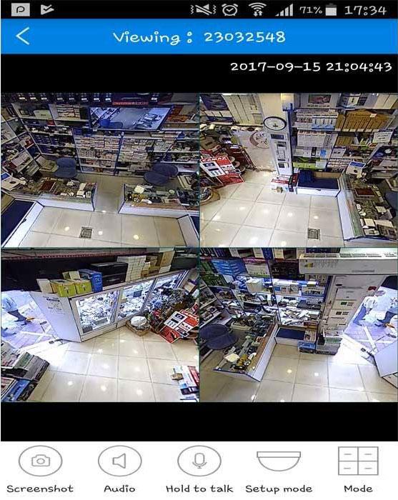 مد های مختلف دوربین پانوراما در نرم افزار V380