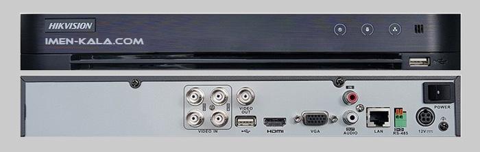 ورودی و خروجی های دستگاه DS-7216HGHI-K1
